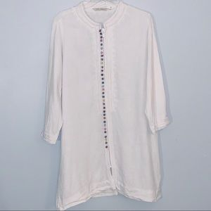 Soft Surroundings XL White Zip Up Tunic